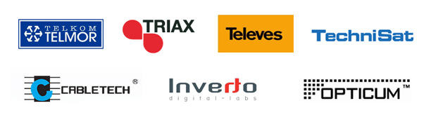 Telmor, Technisat, Triax, Optimum, Televes, Cabeltech, Inverto